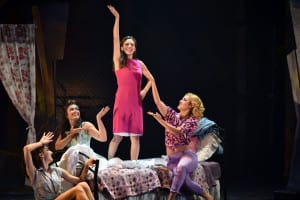 From left, Victoria Casillo, Tori Simeone,Samantha Williams and Ashley Perez Flanagan in a scene from 'West Side Story.' Photo by Michael DeCristofaro