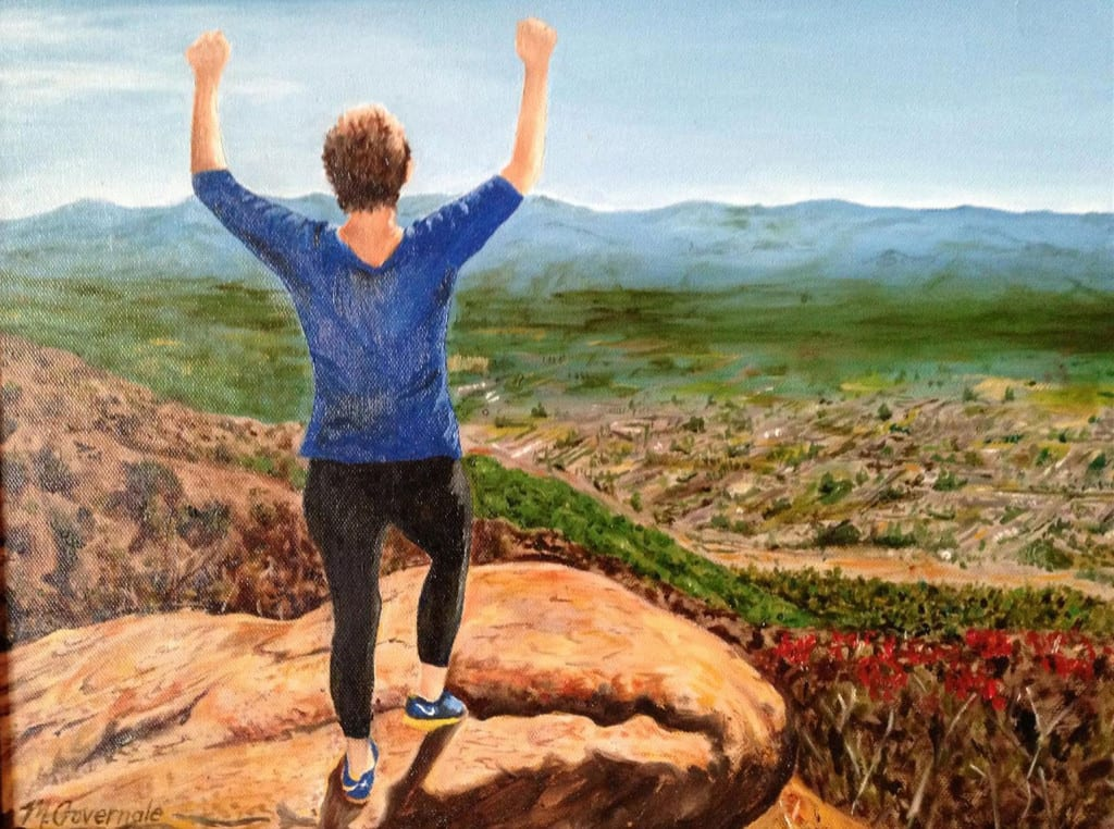 'Victory at Ojai' by Marge Governale. Image from North Shore Art Guild