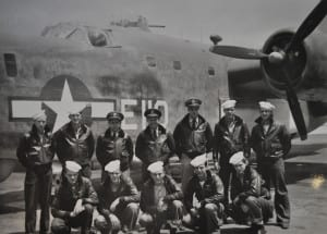 Fred Gumbus, bottom row, second from right, was a tail gunner in the Naval Air Force. Photo from the veteran