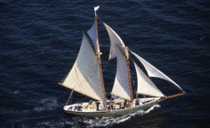 The Lettie G. Howard schooner, one of the last vessels of its kind in existence, will be available for attendees of Heritage Weekend. Photo from Port Jeff Village