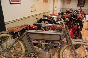 The rare 1911 Harley Davidson is one of the oldest bikes on display at the Motorcycles and the Open Road exhibit. Photo by Kevin Redding