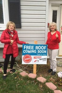 Sisters Denise Pianforte and Heather Richards received a new roof on their Port Jefferson Station home as part of Port Jefferson Station-based A-1 Roofing & Siding's partnership with the No Roof Left Behind project. Photo from A-1 Roofing & Siding