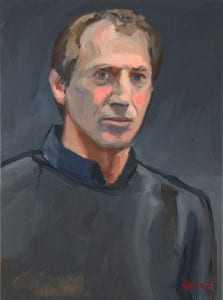 'Self-Portrait,' oil on wood by Christian White