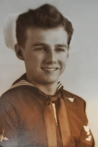 Fred Gumbus was a tail gunner in the Naval Air Force. Photo from the veteran