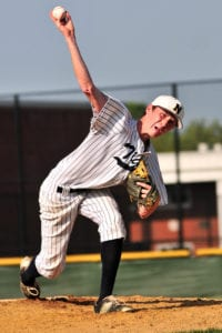 Nick Palmerini pitched six shutout innings. Photo by Bill Landon