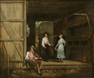 'Dancing on the Barn Floor,' 1831, oil on canvas by William Sidney Mount