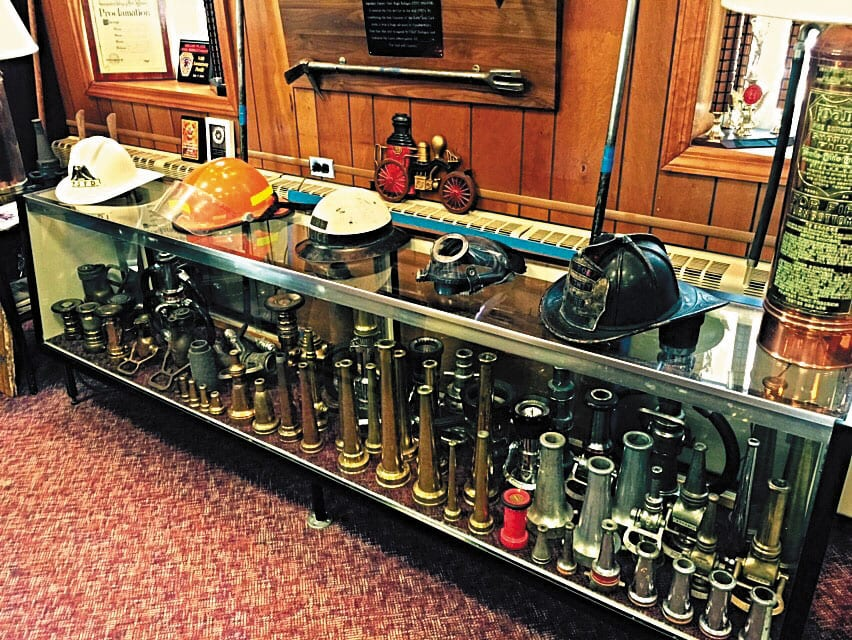 Fire department equipment on display at the Port Jefferson Fire Department Museum, which will be open to the public Heritage Weekend. Photo by Jill Russell