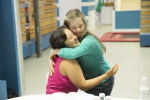 From left, Elena and Megan share a tender moment. Photo by Adam Taylor, courtesy of A&E Network