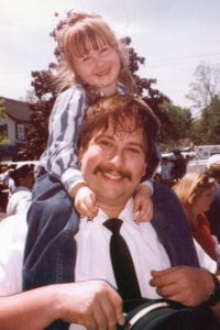 Rebecca Weissbard with her father, Eric. Photo from the Weissbard family